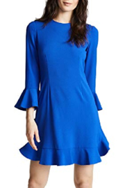 Jill Stuart Royal Ruffle Sleeve Dress - Product Mini Image