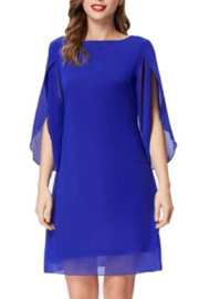 Grace Karin Royal Split Sleeve Dress - Product Mini Image