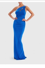 Forever Unique Royal Strappy Gown - Front cropped