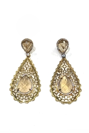 Lets Accessorize Royal Topaz Earrings - Product Mini Image