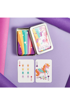 Two's Company Royal Unicorn Playing Card in Tin Storage Case - Alternate List Image
