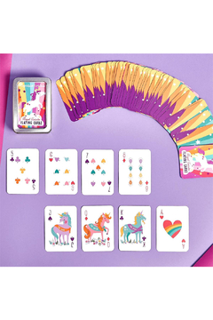 Two's Company Royal Unicorn Playing Card in Tin Storage Case - Product List Image