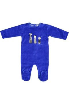 Pounds and Ounces Royalblue Velour Stretchy - Product List Image