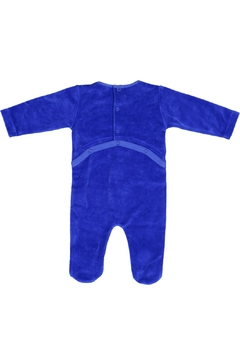Pounds and Ounces Royalblue Velour Stretchy - Alternate List Image