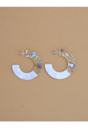 Nat + Noor Roza Hoops In White - Product Mini Image