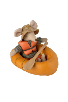 Maileg Rubber Boat For Mouse - Dusty Yellow - Product List Image