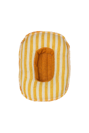 Maileg Rubber Boat - Small Mouse/Yellow Stripe - Side cropped