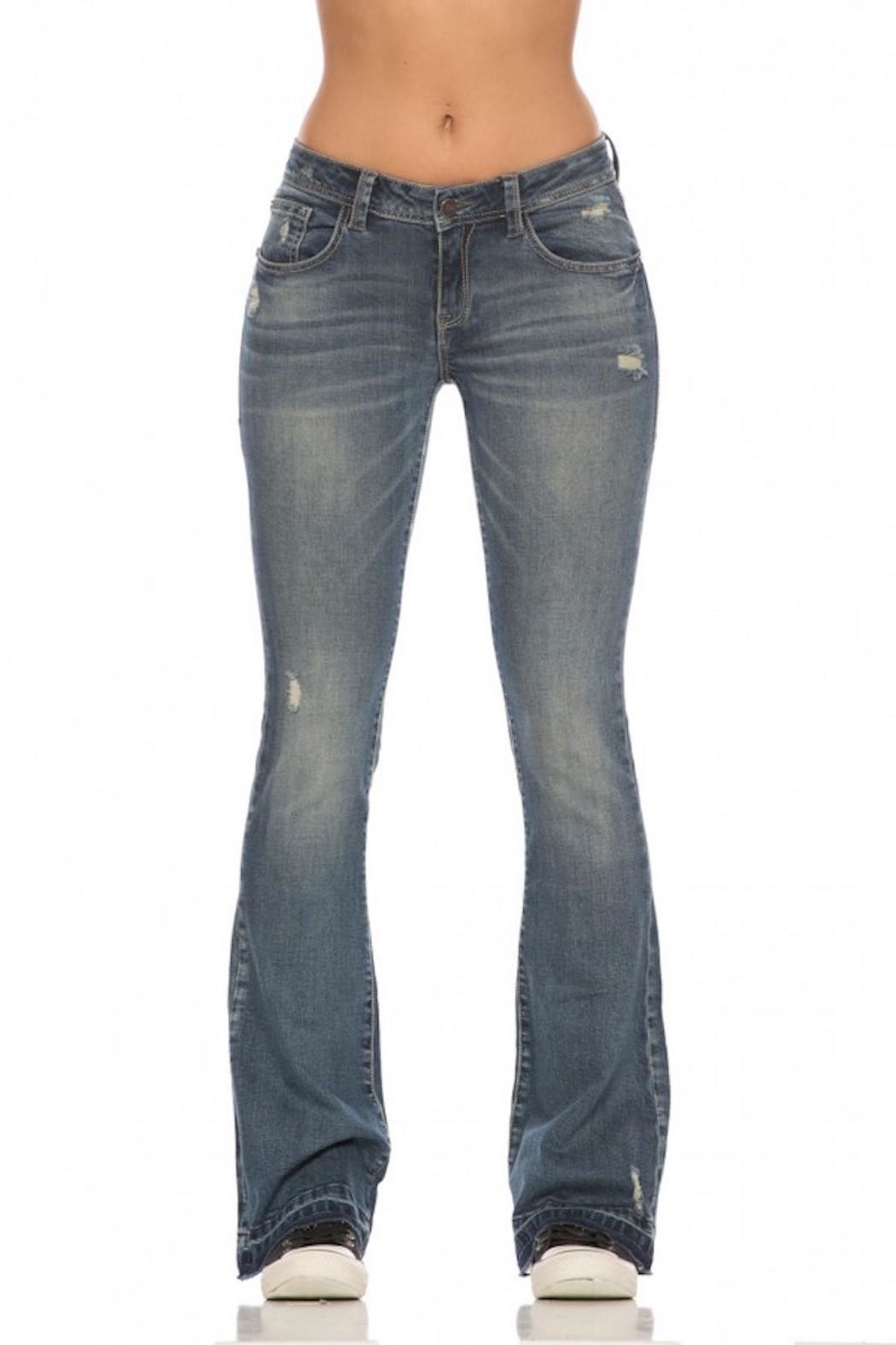 Rubberband Stretch Karen Flares Jeans - Main Image