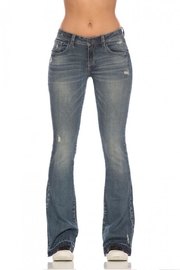 Rubberband Stretch Karen Flares Jeans - Front cropped