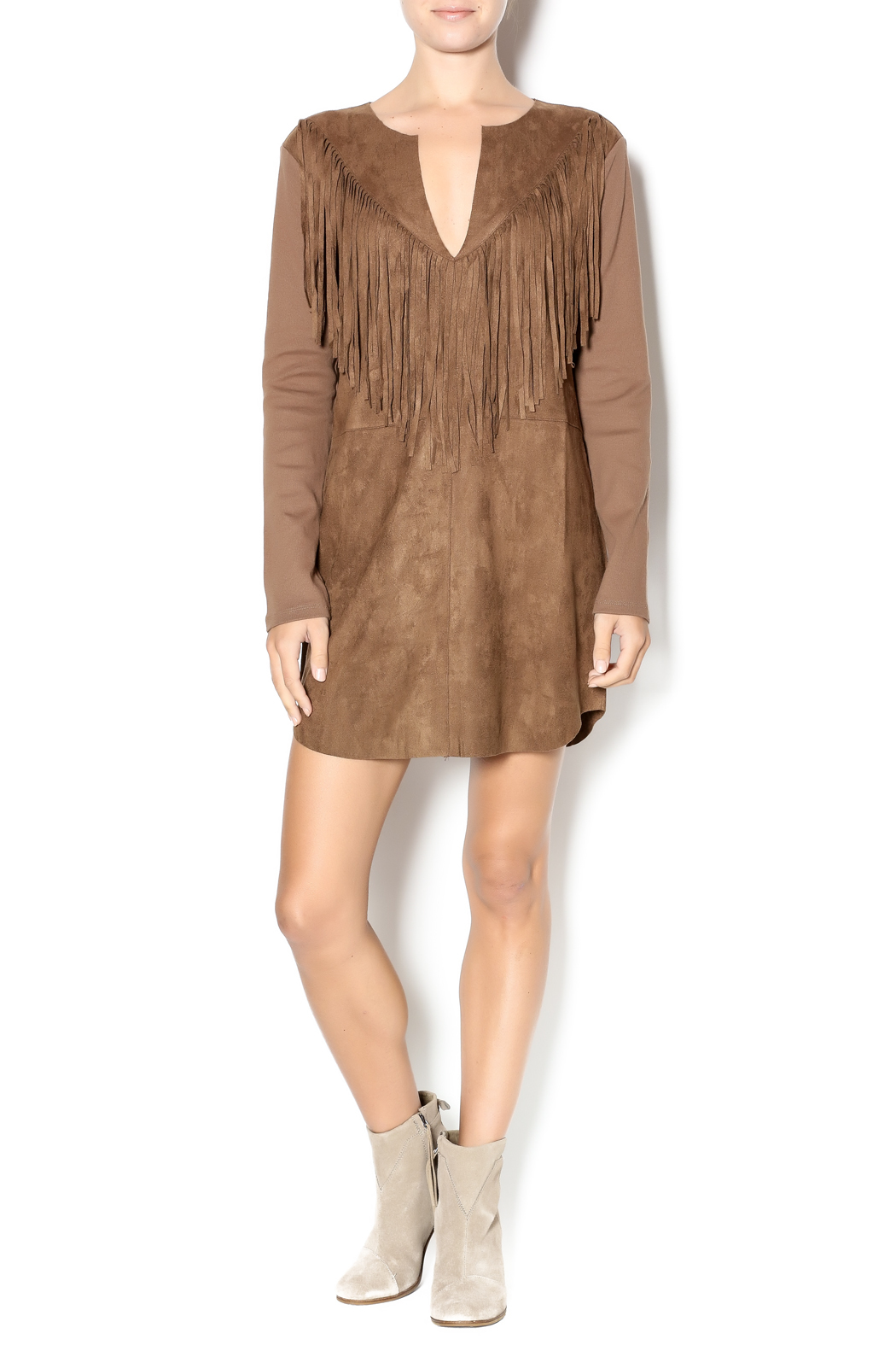 Ruby and Jenna Faux Suede Fringe Dress from Manhattan ...