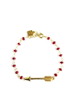 Shoptiques Product: Ruby Arrow Bracelet