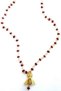 Malia Jewelry Ruby Bee Necklace - Product List Image