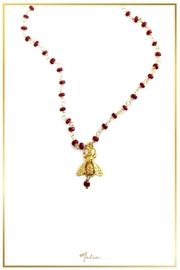 Malia Jewelry Ruby Bee Necklace - Front cropped