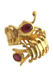 Malia Jewelry Ruby Centipede Ring - Front cropped