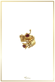 Malia Jewelry Ruby Centipede Ring - Product Mini Image