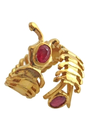 Malia Jewelry Ruby Centipede Ring - Front full body