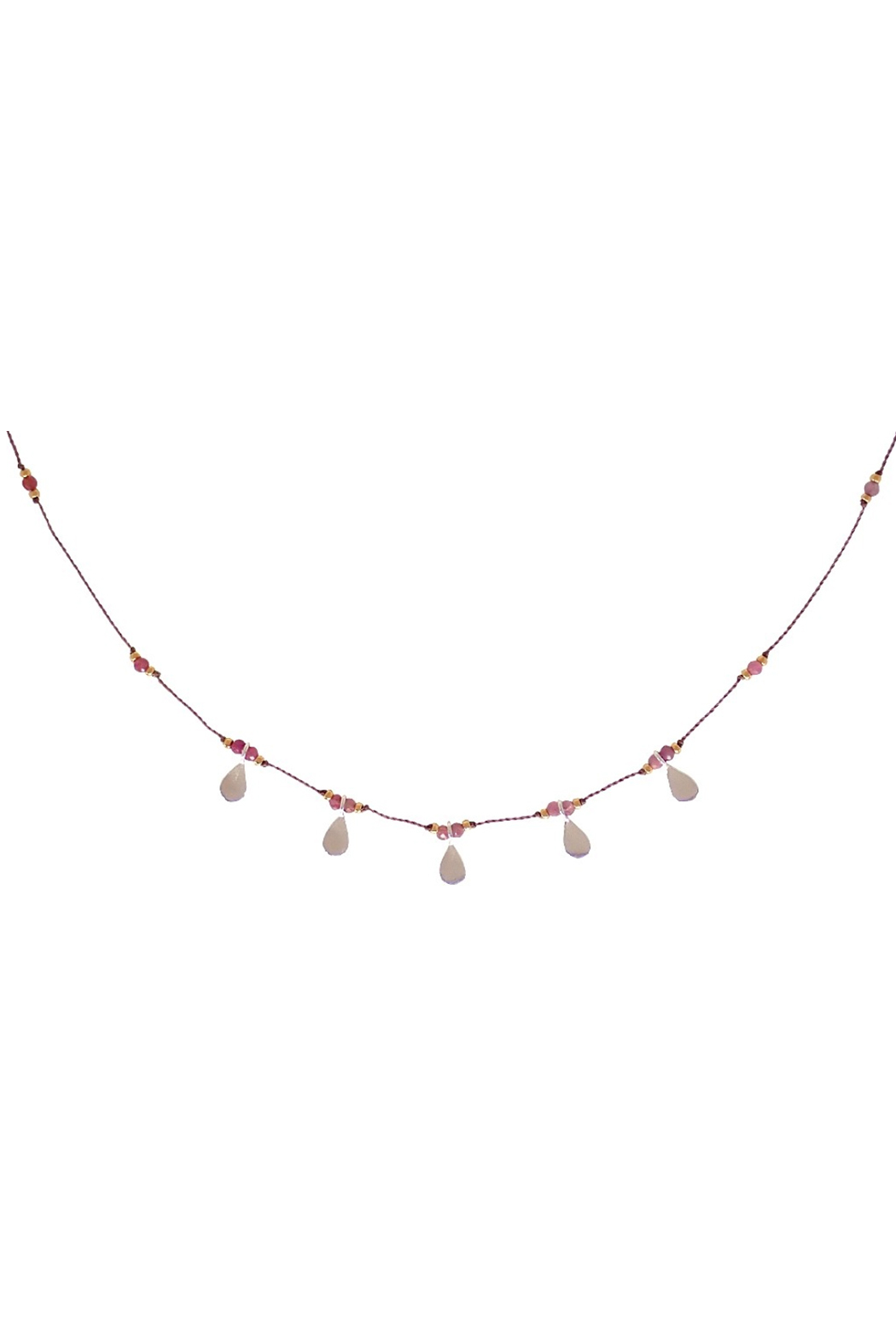 Bronwen Ruby Isis Necklace - Front Full Image