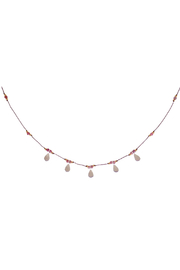 Bronwen Ruby Isis Necklace - Front full body