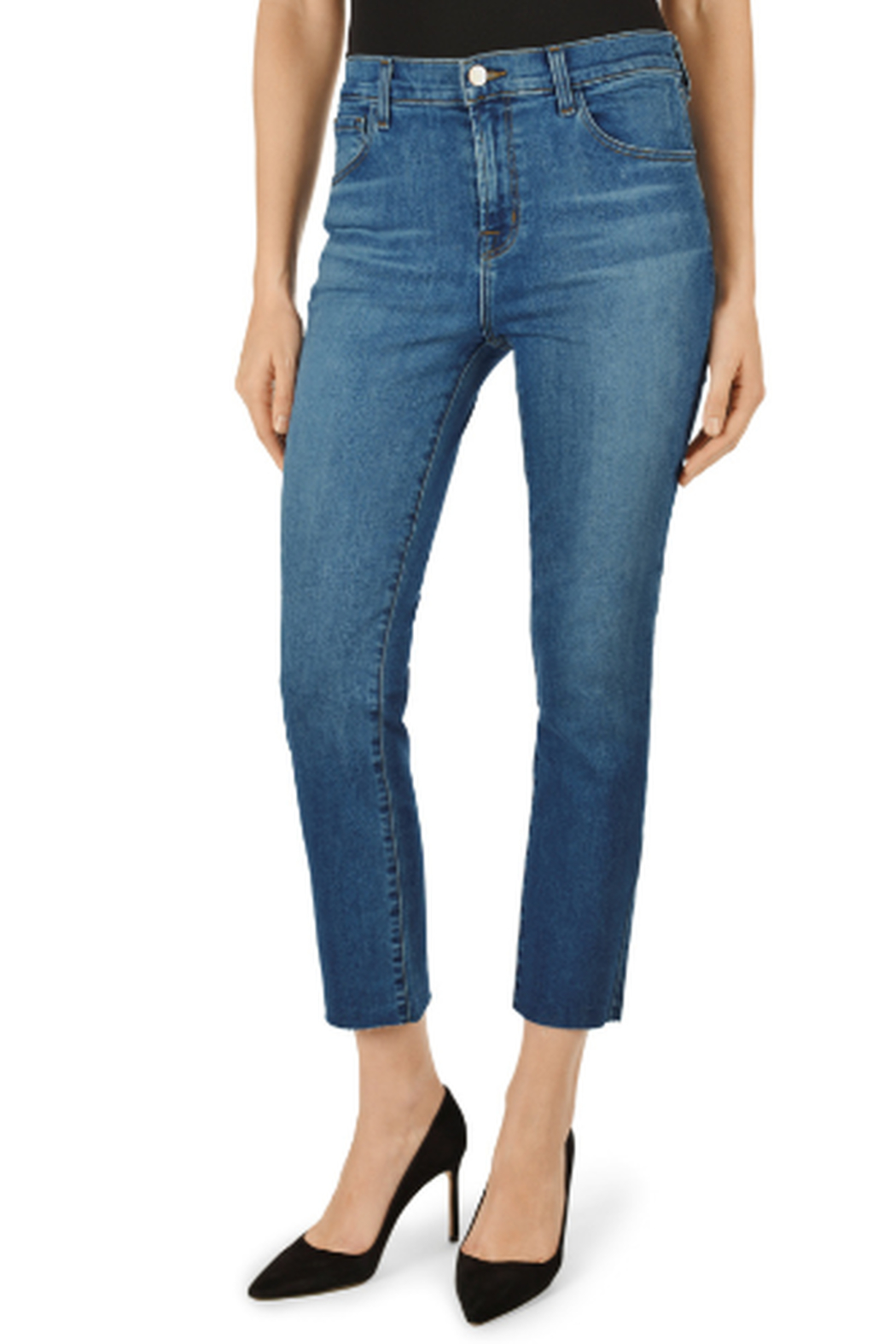 J Brand Ruby Lovesick High-Rise Cropped Cigarette - Front Full Image