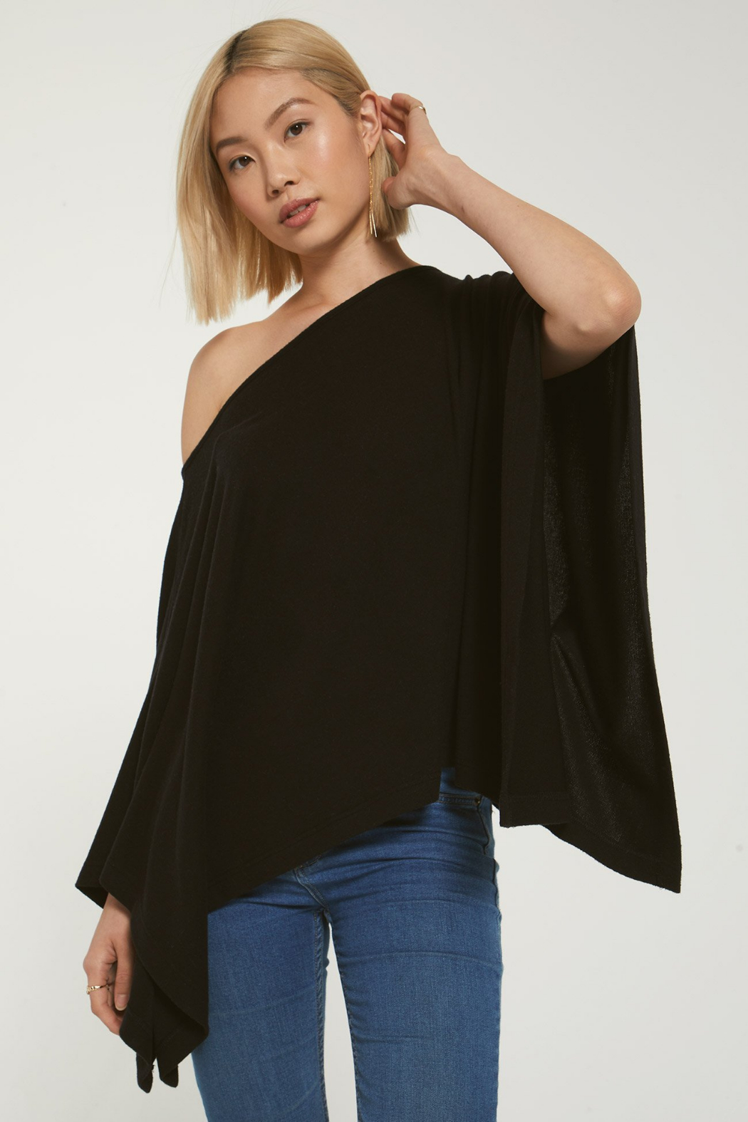 z supply Ruby Marled Poncho - Main Image