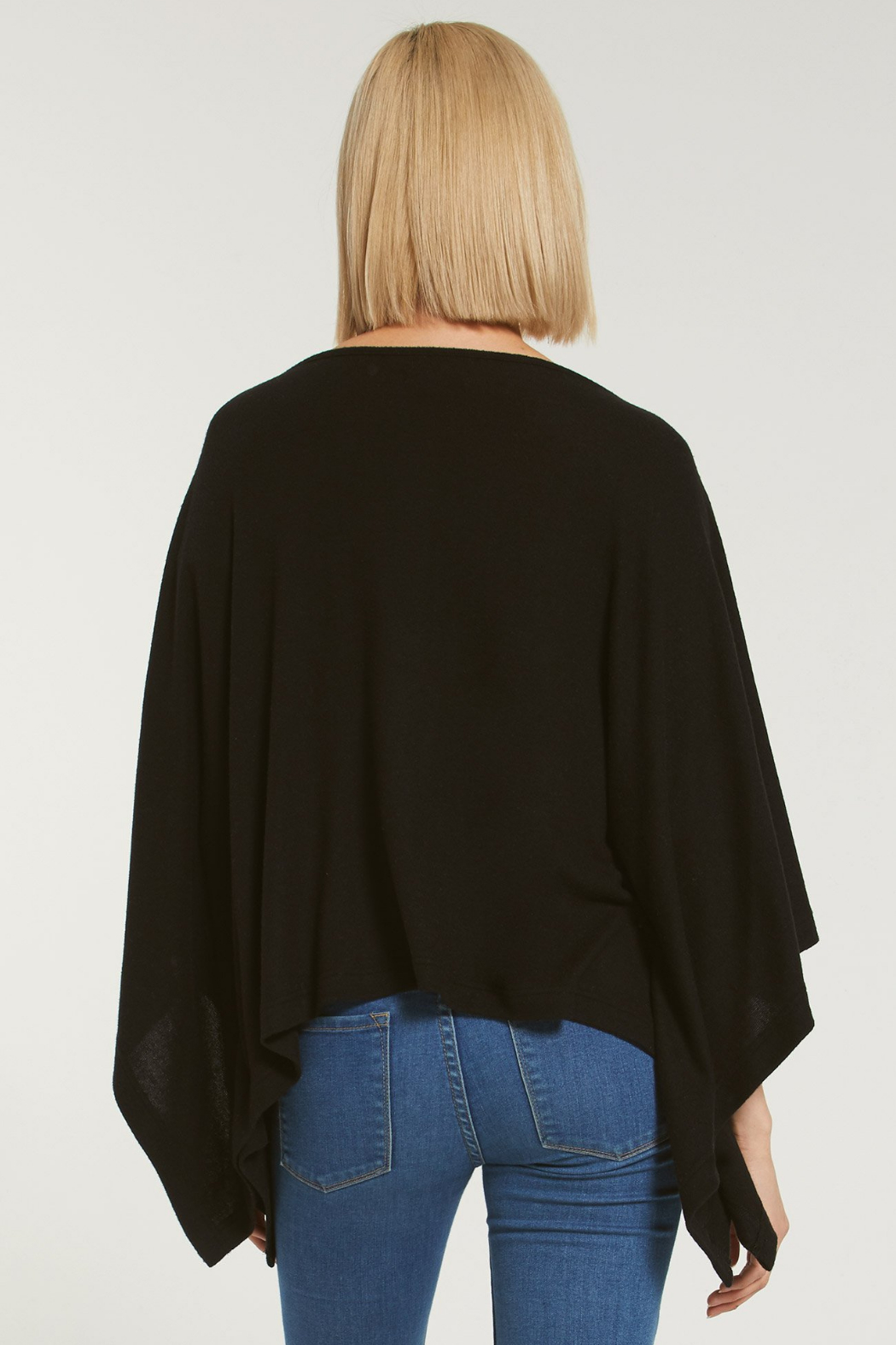 z supply Ruby Marled Poncho - Back Cropped Image