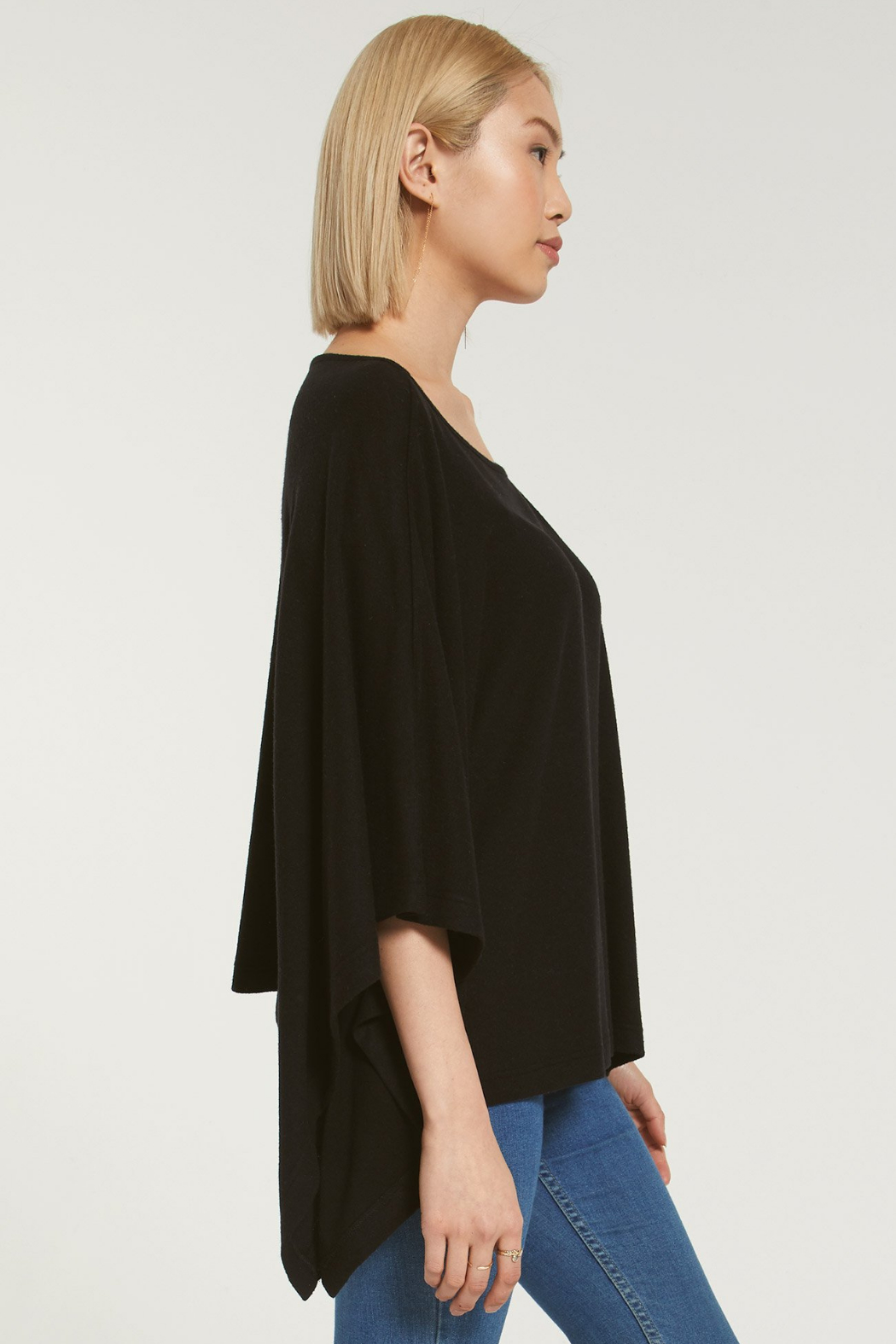 z supply Ruby Marled Poncho - Side Cropped Image