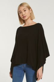 z supply Ruby Marled Poncho - Front full body