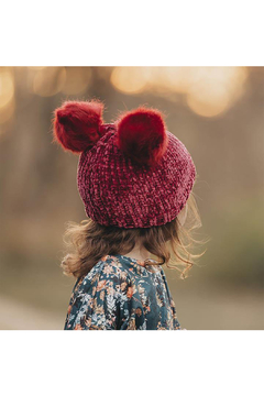 Huggalugs Ruby Red Chenille Beanie Hat - Product List Image