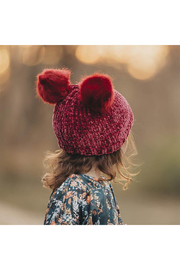 Huggalugs Ruby Red Chenille Beanie Hat - Product Mini Image