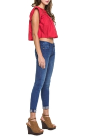 Endless Rose Ruby-Red Crop Top - Side cropped