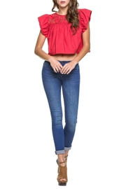 Endless Rose Ruby-Red Crop Top - Front full body