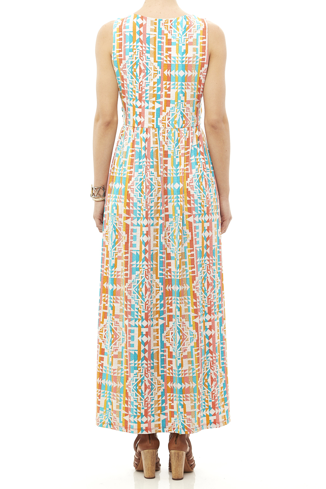 Ruby Road Colorful Print Maxi - Back Cropped Image