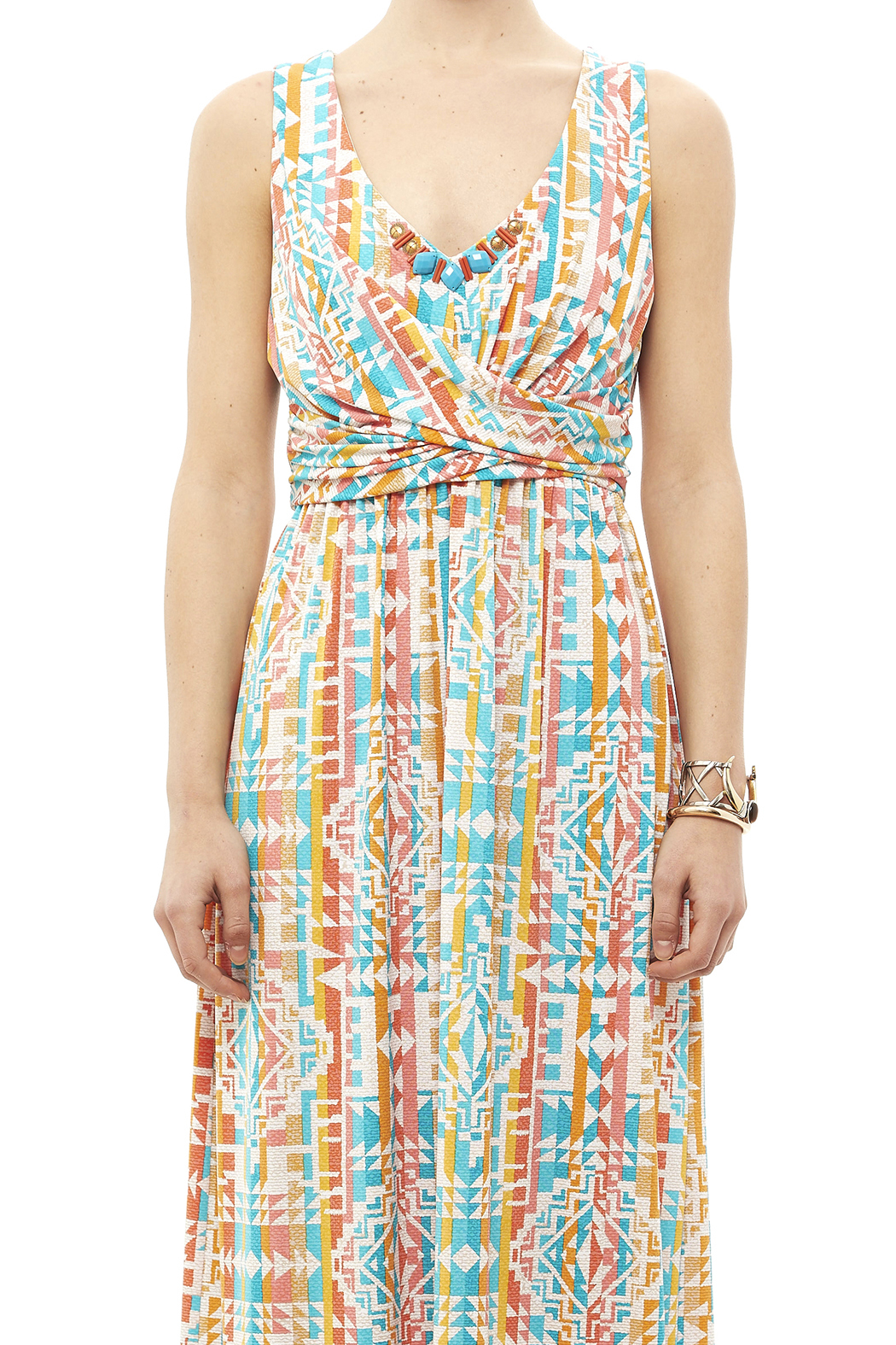 Ruby Road Colorful Print Maxi - Side Cropped Image