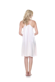 PJHARLOW RUBY Satin Nightgown With Spaghetti Strap And Gathered Back - Front full body