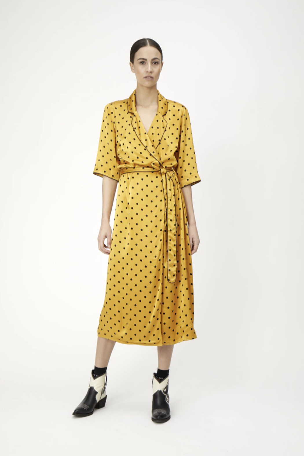 Just Female Ruby Wrap Dress - Front Cropped Image