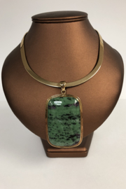 Toto Collection Ruby Zoisite Pendant Necklace - Product Mini Image
