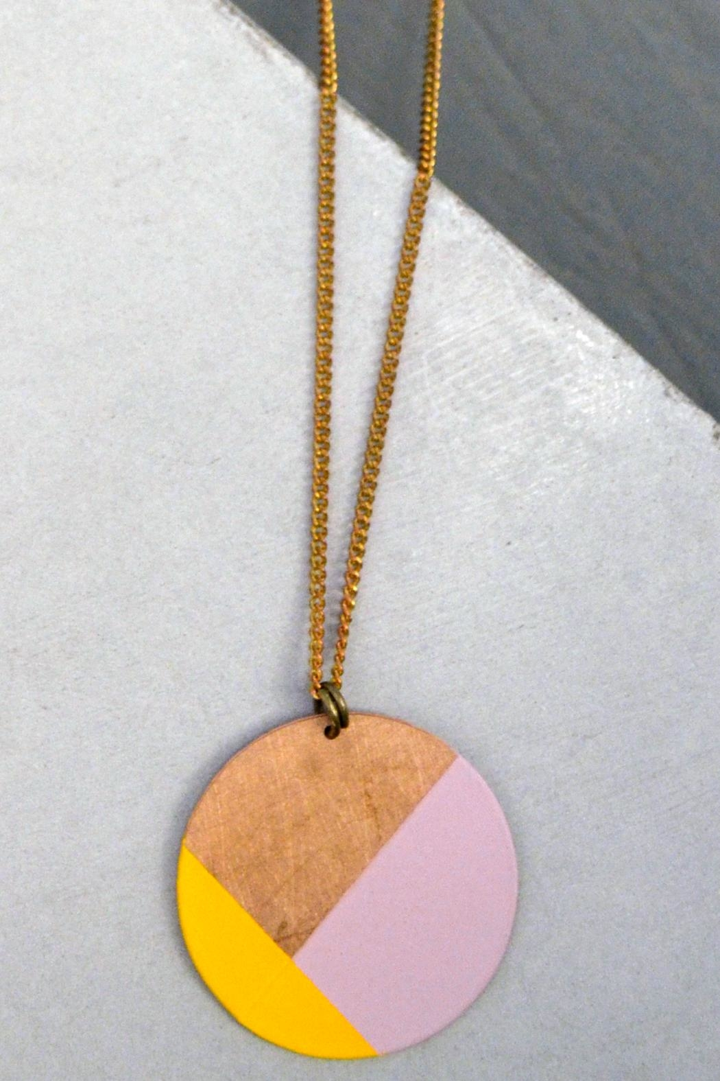 Ruby on Tuesday Color-Blocking Circle Necklace - Main Image