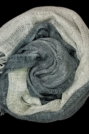 Rubyzaar Pewter Silk Scarf - Product Mini Image