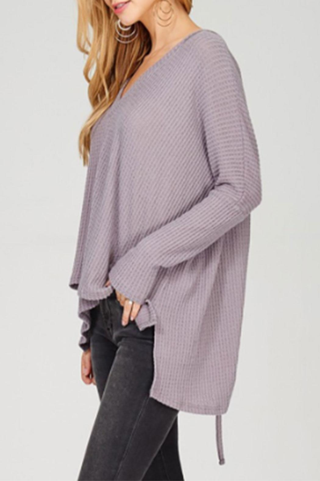 Maronie  Ruched Back Thermal - Front Full Image