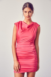 Do + Be  Ruched Bottom Shoulder Pad Dress - Product Mini Image