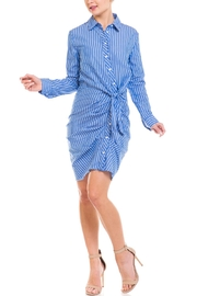 Do & Be Ruched Button-Down Dress - Product Mini Image