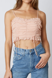 Cotton Candy  Ruched Crop Top - Product Mini Image