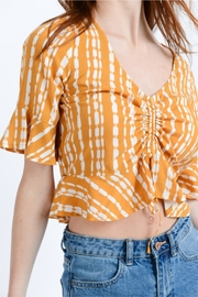 Love Tree Ruched Crop Top - Front cropped