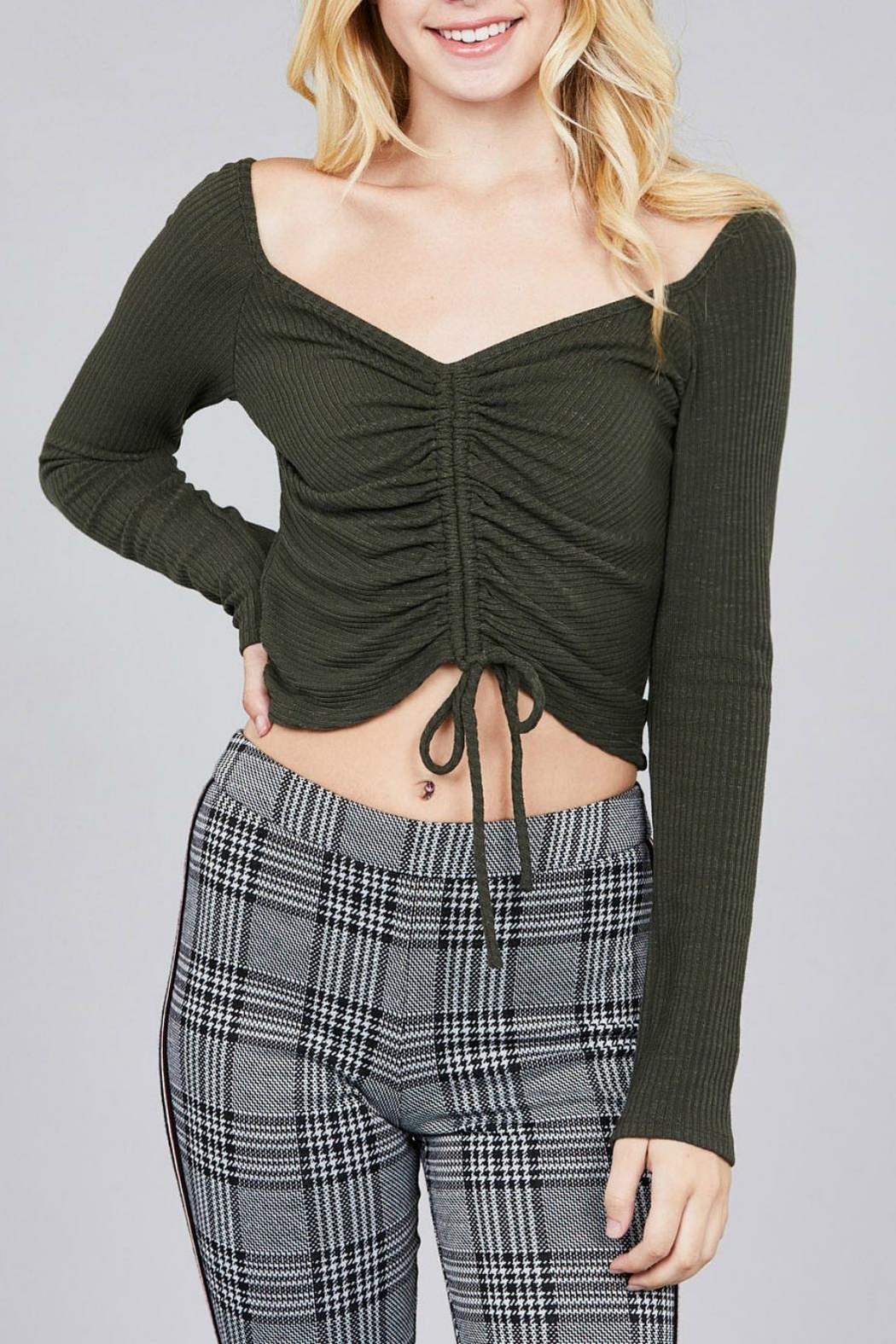 Pretty Little Things Ruched Drawstring Top - Main Image
