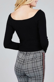 Pretty Little Things Ruched Drawstring Top - Front full body