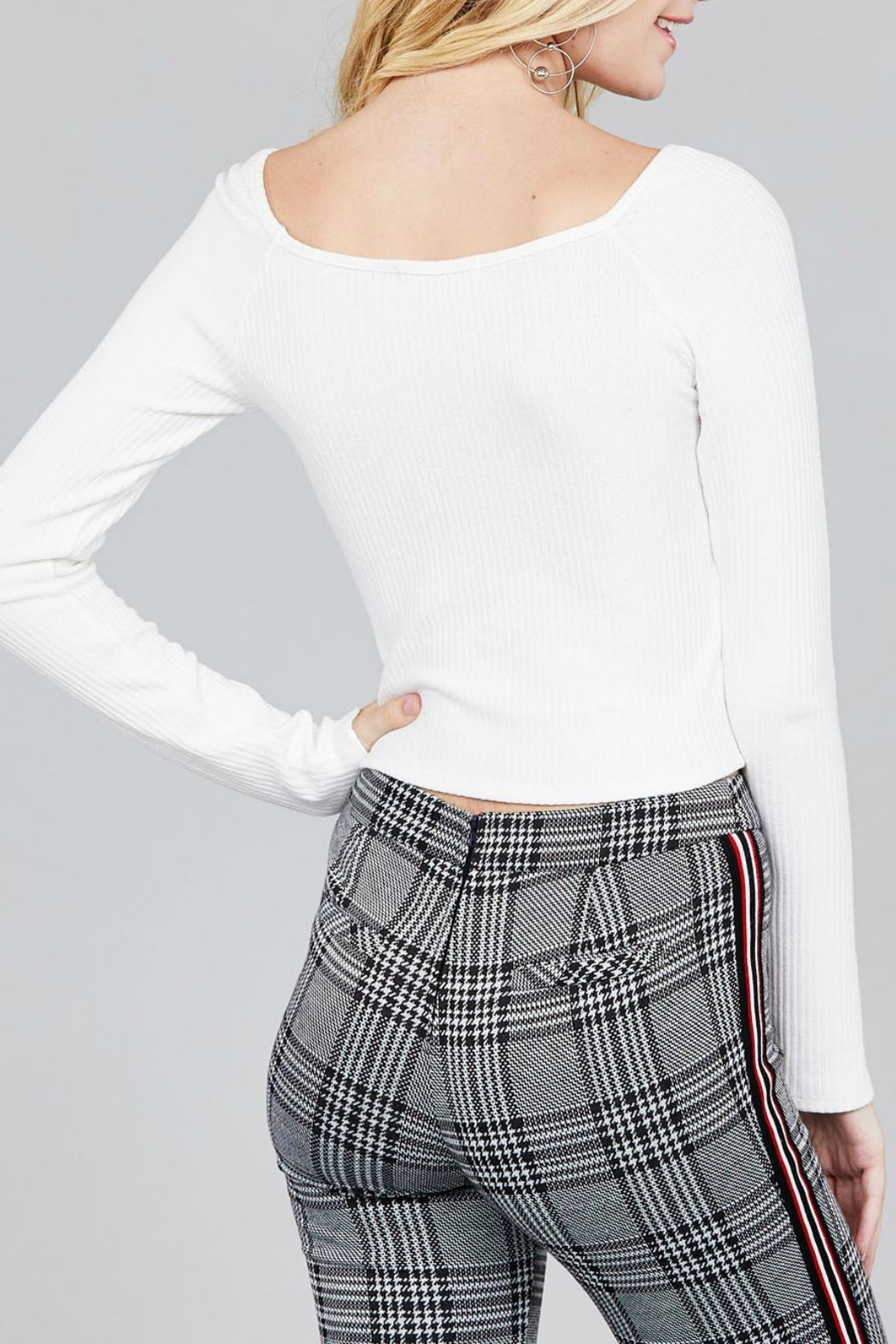 Pretty Little Things Ruched Drawstring Top - Front Full Image