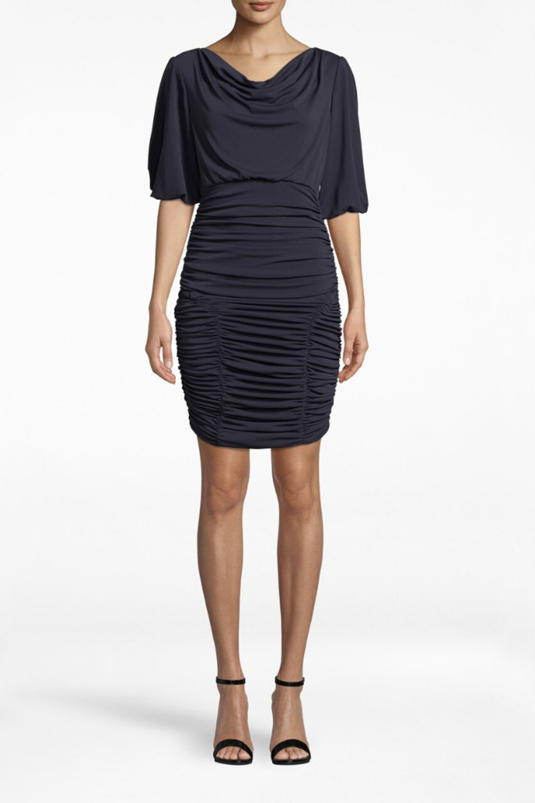 Nicole Miller Ruched Dress - Front Cropped Image