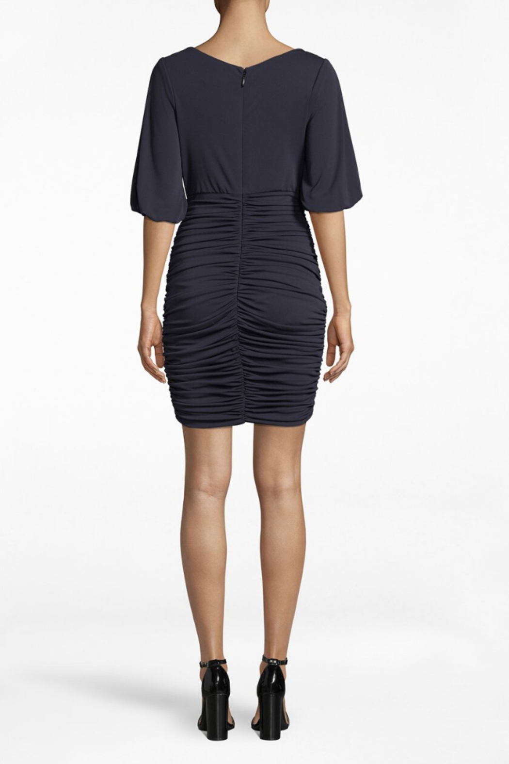 Nicole Miller Ruched Dress - Front Full Image