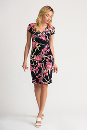 Joseph Ribkoff Ruched Floral Dress - Front cropped