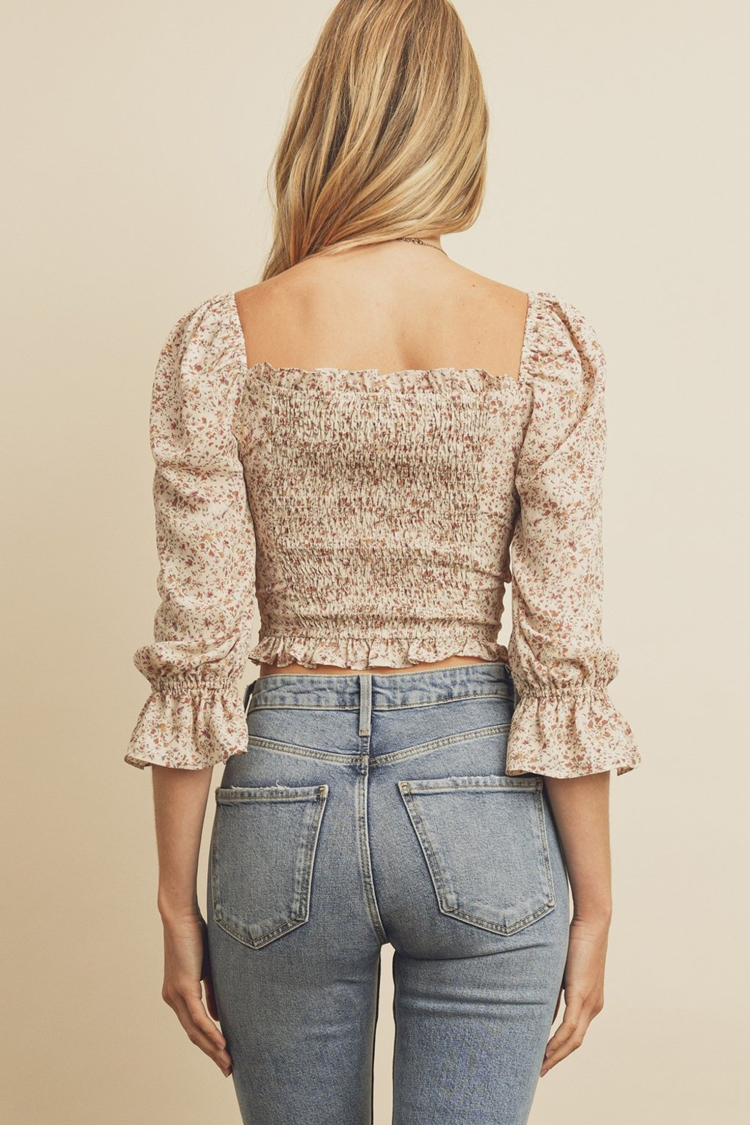 dress forum Ruched Front Blouse - Side Cropped Image